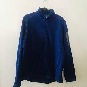 Eddie Bauer Royal Blue Half Zip Pullover-XL